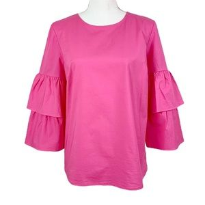 J. Crew Mercantile | Pink Tiered Sleeve Blouse